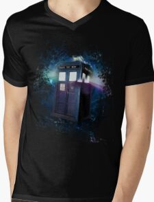Tardis Burst Mens V-Neck T-Shirt