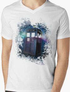 Tardis Burst Mens V-Neck T-Shirt