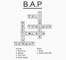 B.A.P Crossword Puzzle Kids Tee