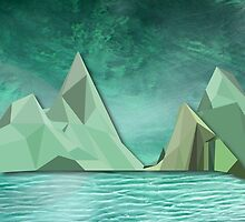 Night Mountains No. 11 by BakmannArt