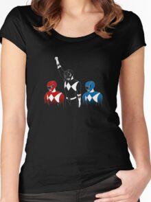 Black Power Ranger Women's Fitted Scoop T-Shirt