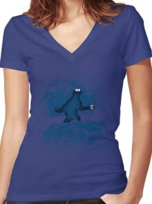 Patterson's Blue Foot Women's Fitted V-Neck T-Shirt