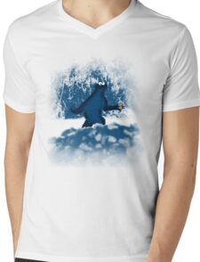Patterson's Blue Foot Mens V-Neck T-Shirt