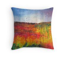 Autumn Colours Landscape Throw Pillow