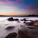 Pink sunset by Saverio Savio