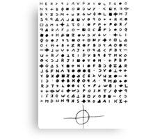 Zodiac letter Canvas Print