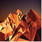 Night Mountains No. 7 by BakmannArt