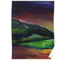 Dark Oil Landscape Poster