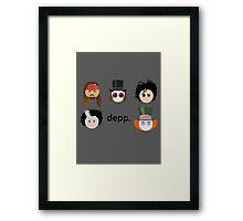 Depp. (Johnny Depp characters) Framed Print