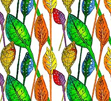 pattern of colorful leaves by ODinovna