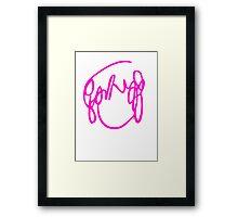 Ramona Flowers Pink  - Scott Pilgrim vs The World Framed Print