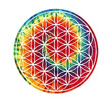 Inverted Tie-dye Flower of Life by kzenabi
