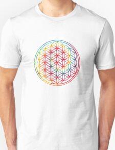 Tie-dye Flower of Life  T-Shirt