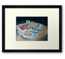 Red bowl Framed Print