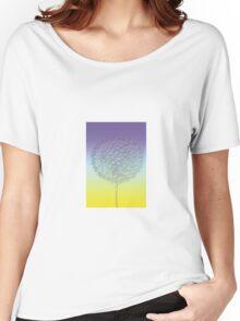 Stylized blue - yellow dandelion flower head Women's Relaxed Fit T-Shirt