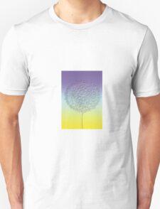 Stylized blue - yellow dandelion flower head T-Shirt