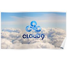 C9 CLOUD 9 GAMING CLOUDY LCS CSGO LOGO Poster