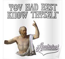 Socrates ~ Know Thyself Anachrotees' Design Poster