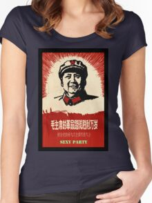 Mao's Sexy Party Women's Fitted Scoop T-Shirt