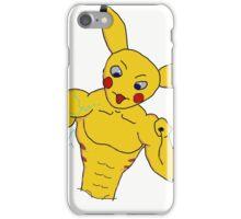 badass pika iPhone Case/Skin