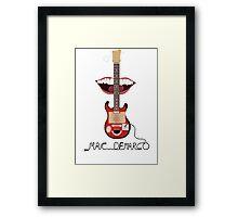 Mac Demarco cardboard guitar  Framed Print