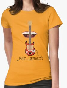 Mac Demarco cardboard guitar  Womens Fitted T-Shirt