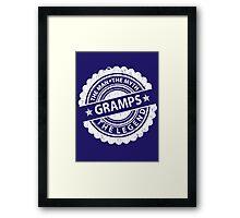Gramps – The Man The Myth The Legend Framed Print