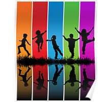 kIDS AND RAINBOW Poster