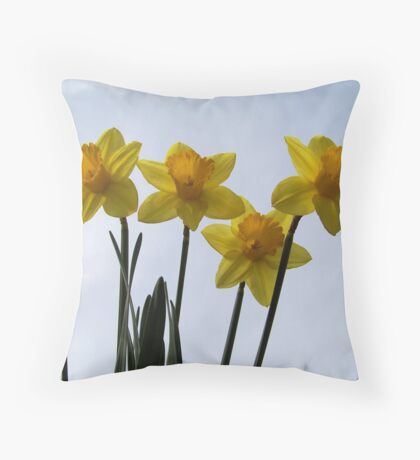 The first Daffodils of spring! Throw Pillow