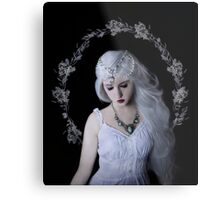 Moon girl child beauty Metal Print