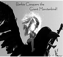 Barbie Conquers the Giant Monsterbird Photographic Print