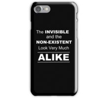 Invisible and Nonexistent Look Alike  iPhone Case/Skin