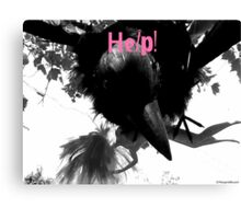 Barbie Attacked by Giant Monsterbird Canvas Print