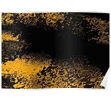 Flowers In Deep Waves. Space Reflection. Poster