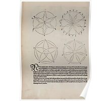 Measurement With Compass Line Leveling Albrecht Dürer or Durer 1525 0064 Repeating Shapes Poster