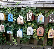 Granville Island Boat House Mailboxes by Charnell Steadman
