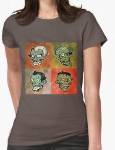 The Walking Heads  Womens Fitted T-Shirt