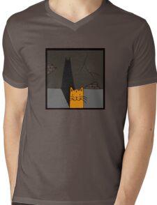 BATCAT Mens V-Neck T-Shirt