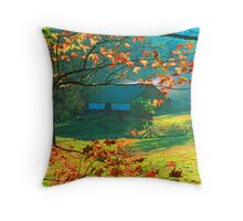 CORN CRIB,TIPTON PLACE Throw Pillow