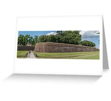 The Wall of Lucca Greeting Card