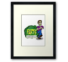 Farts - All of the fun none of the mess Framed Print