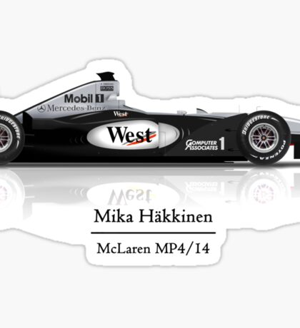 Mika Hakkinen -  McLaren Mercedes MP4/14 Sticker