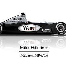 Mika Hakkinen -  McLaren Mercedes MP4/14 by JageOwen