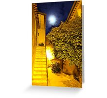 Full Moon in Gassin, Southern France Greeting Card