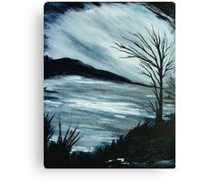 Black and White Landscape Canvas Print