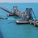 Rail way bridge across the Sea by madhusoodanan