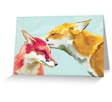 Fox Kiss Greeting Card