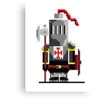 little pixel knight Canvas Print