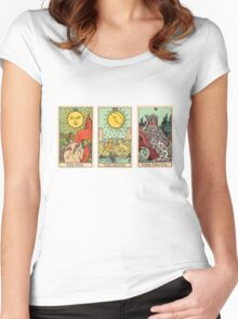 The Sun, The Moon, The Truth [Tarot] Women's Fitted Scoop T-Shirt