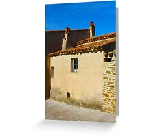 Vintage House in Gassin, Southern France Greeting Card